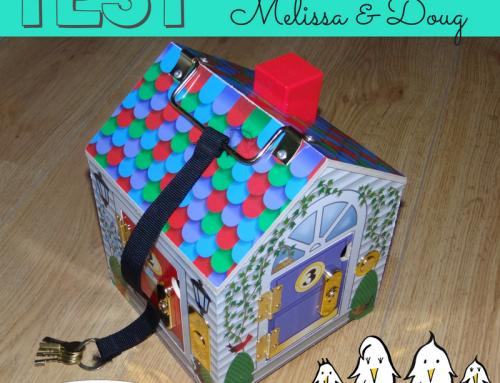 Nous avons testé : la maison à serrures Melissa & Doug —- non sponsorisé —-