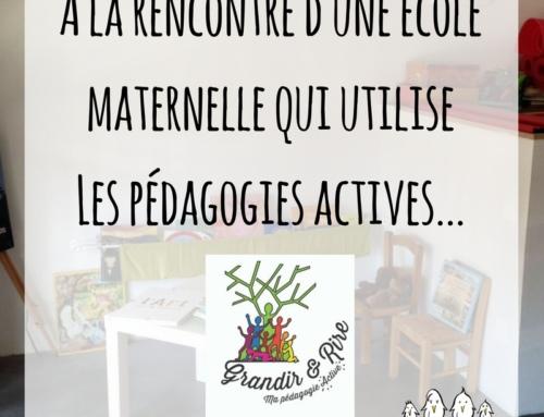 Découvrez une école maternelle sur les Pédagogies Actives !